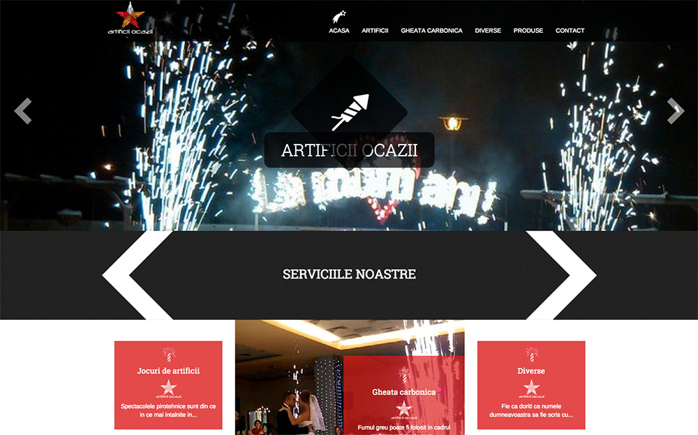 site artificii